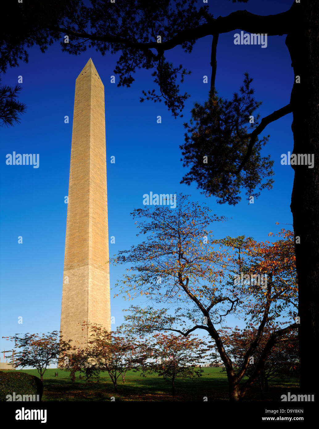 Washington marble and granite - Stock Photo Usa Washington Washington Dc National Mall Washington Monument 555 Foot Tall Marble Granite Obelisk Commemorating George