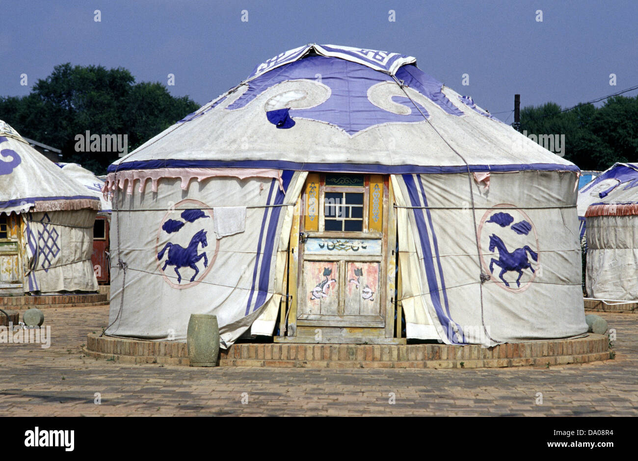 Traditional Mongolian yurt or ger tent & Traditional Mongolian yurt or ger tent Stock Photo Royalty Free ...