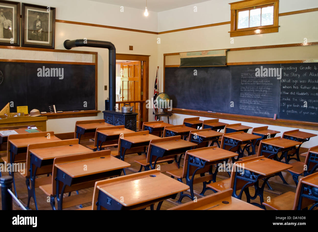 Classroom Furniture Canada ~ An old fashioned school room circa s from burnaby
