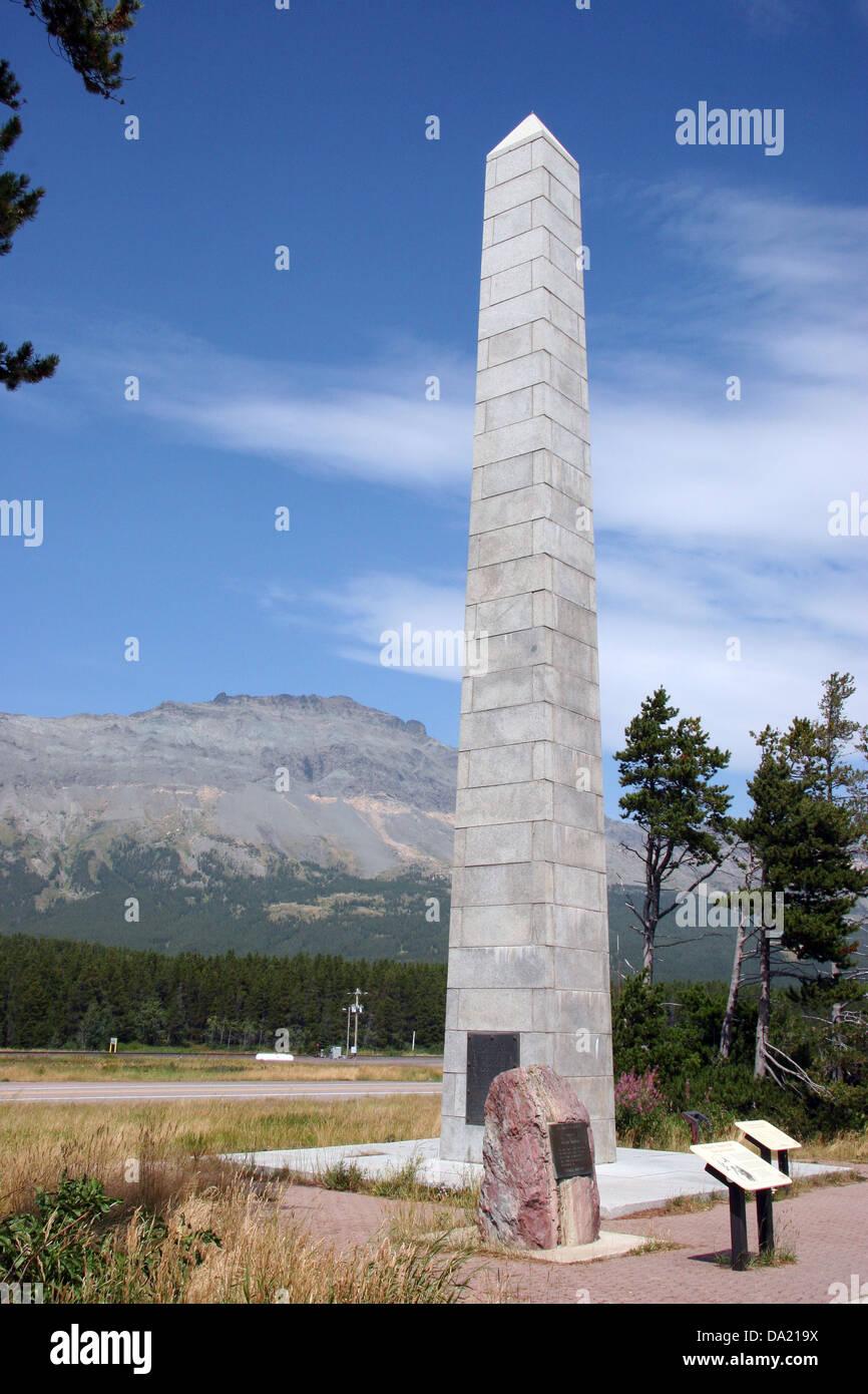 Roosevelt Memorial Obelisk Marias Pass Glacier County Montana