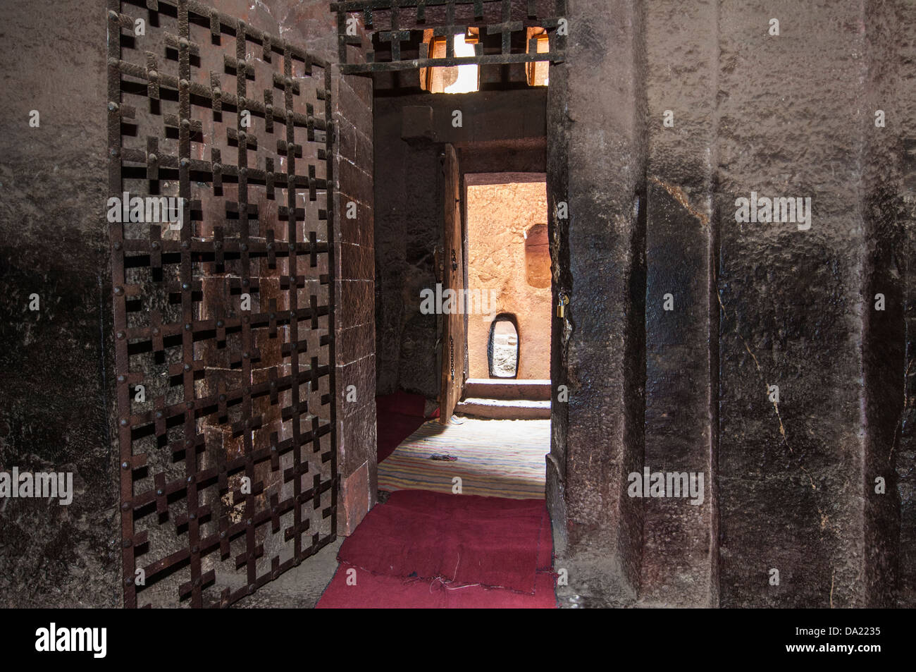 africa ethiopia lalibela interior rock stock photos africa monolithic rock cut church of bete medhane alem interior lalibela ethiopia