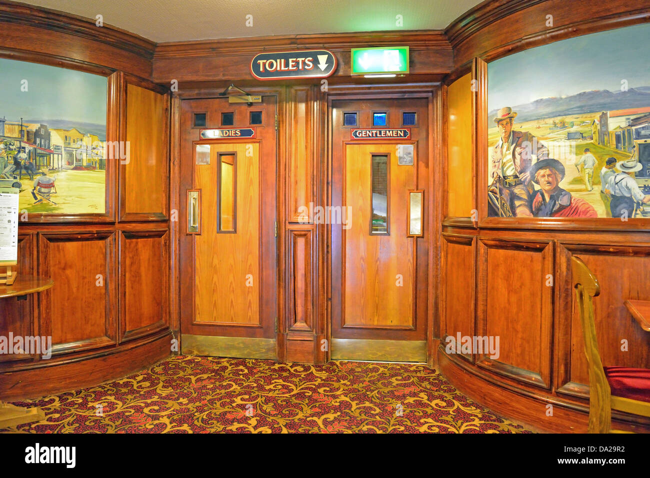 art deco interior of the regent pub formerly palace cinema