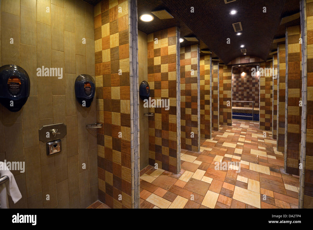 Showers used before immersion at the Mikveh Meir Jewish ...