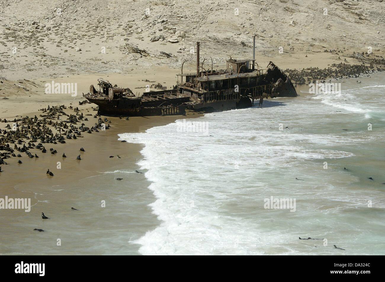 Otavi Namibia  City pictures : Otavi Shipwreck, Skeleton Coast, Namibia Stock Photo, Picture And ...