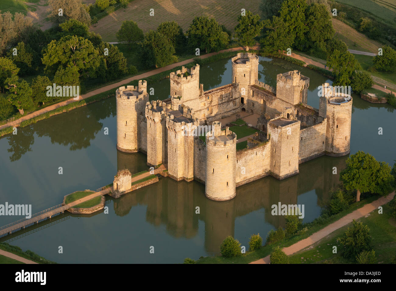BODIAM MEDIEVAL CASTLE (aerial View). East Sussex, England, Great Britain, Design Inspirations