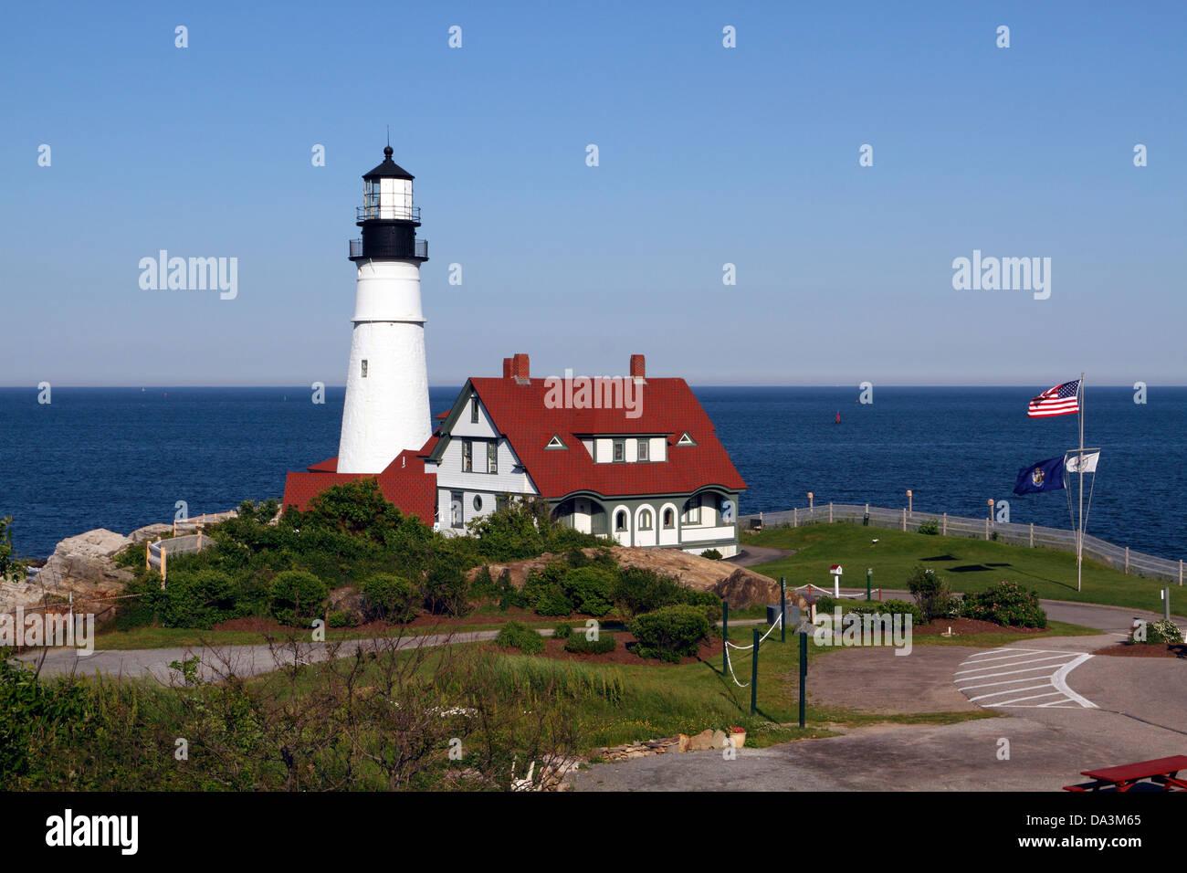 Portland Head Light Cape Elizabeth Maine Marks The
