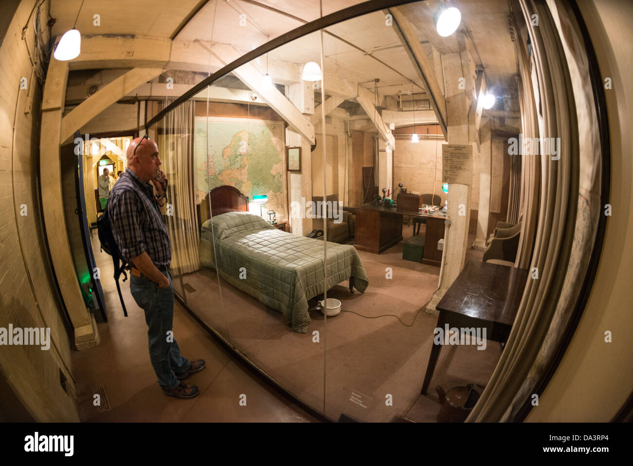 Cabinet War Museum At The Churchill War Rooms In London The Museum One Of Five