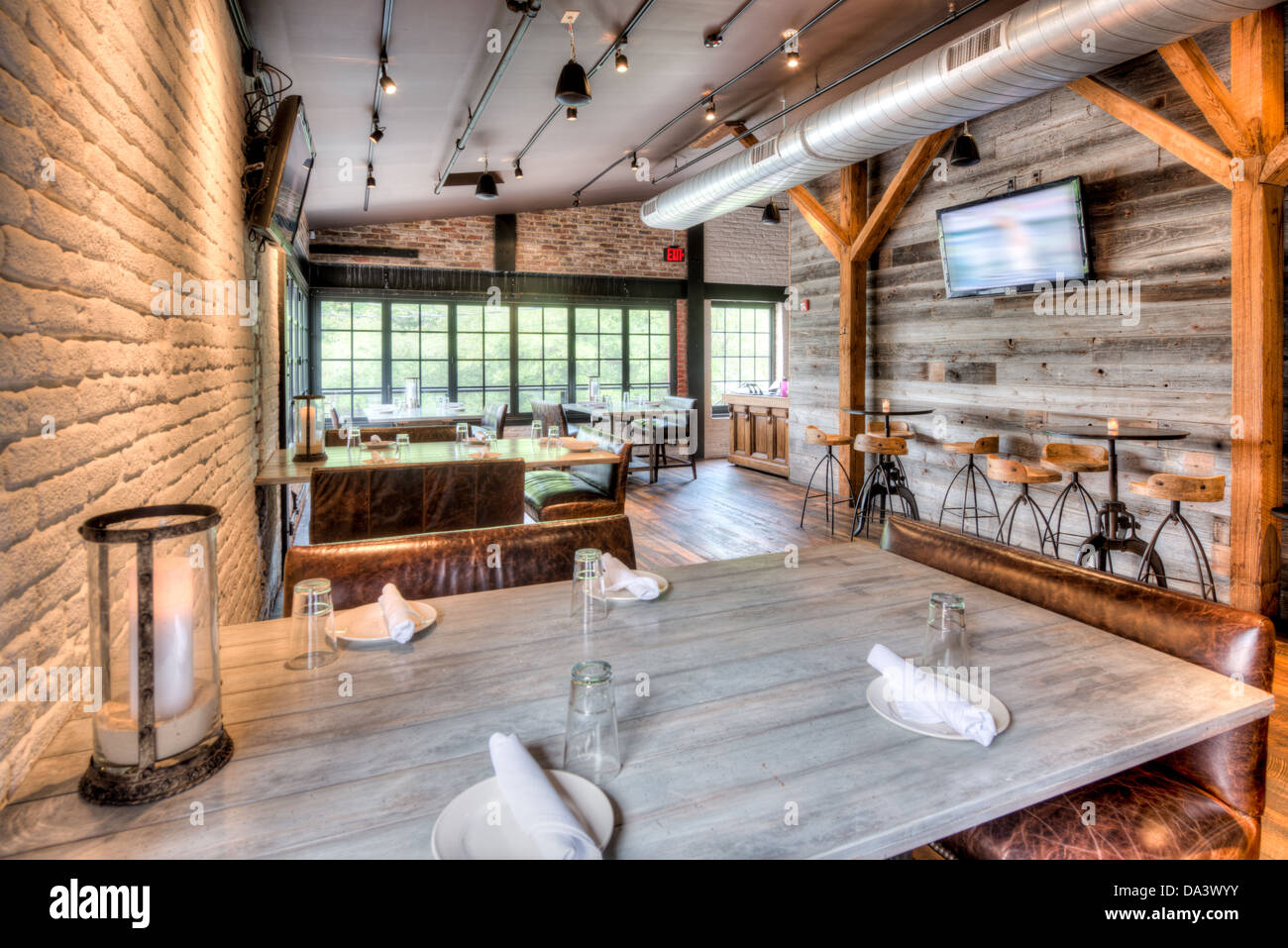 The Interior Of Virtue Feed And Grain A Restaurant And Tavern In Old Stock Photo Royalty Free