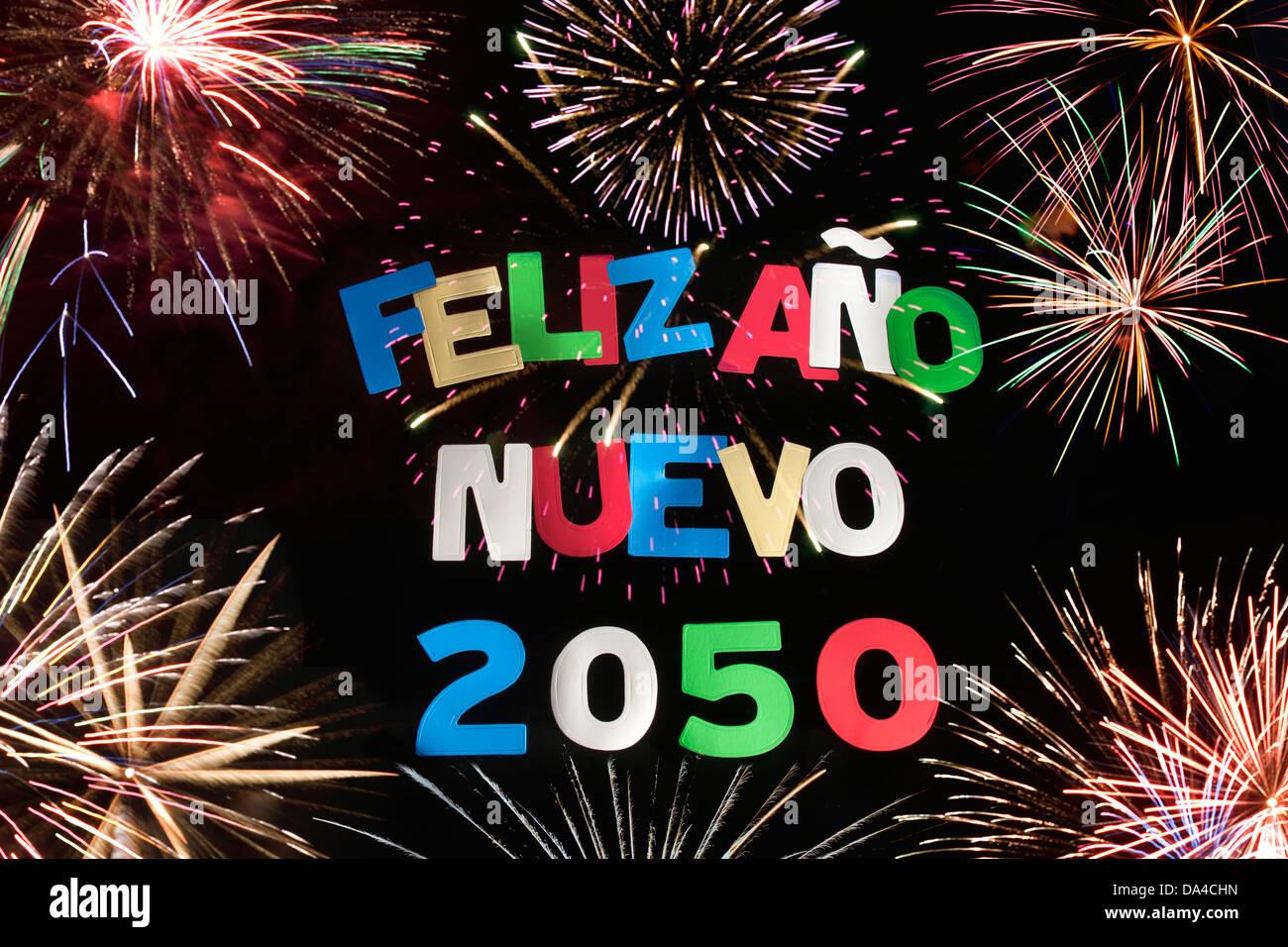 FELIZ ANO NUEVO 2050 Stock Photo, Royalty Free Image