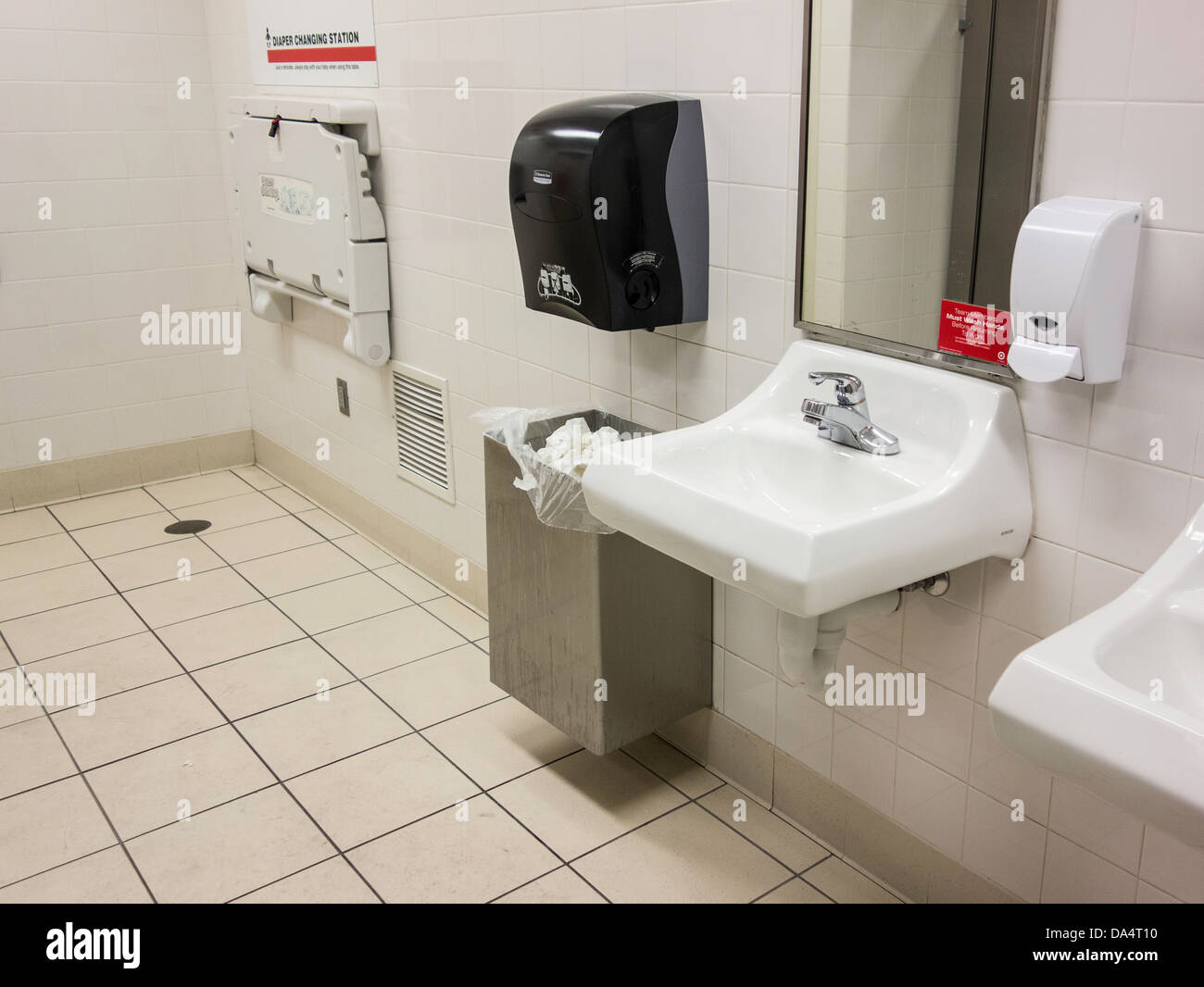 Bathroom Changing Table public bathroom baby stock photos & public bathroom baby stock