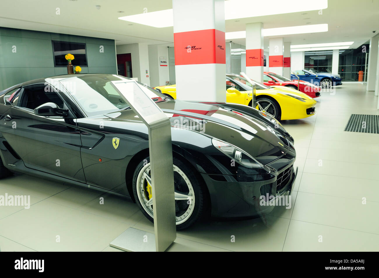 Ferrari Showroom Stock Photo Royalty Free Image Alamy