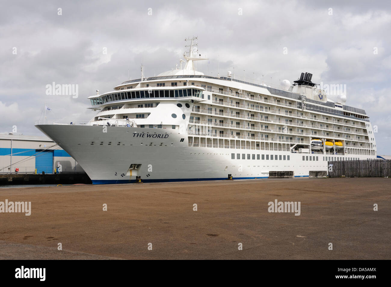 Belfast Northern Ireland Th July The World Luxury - Cruise ship ireland