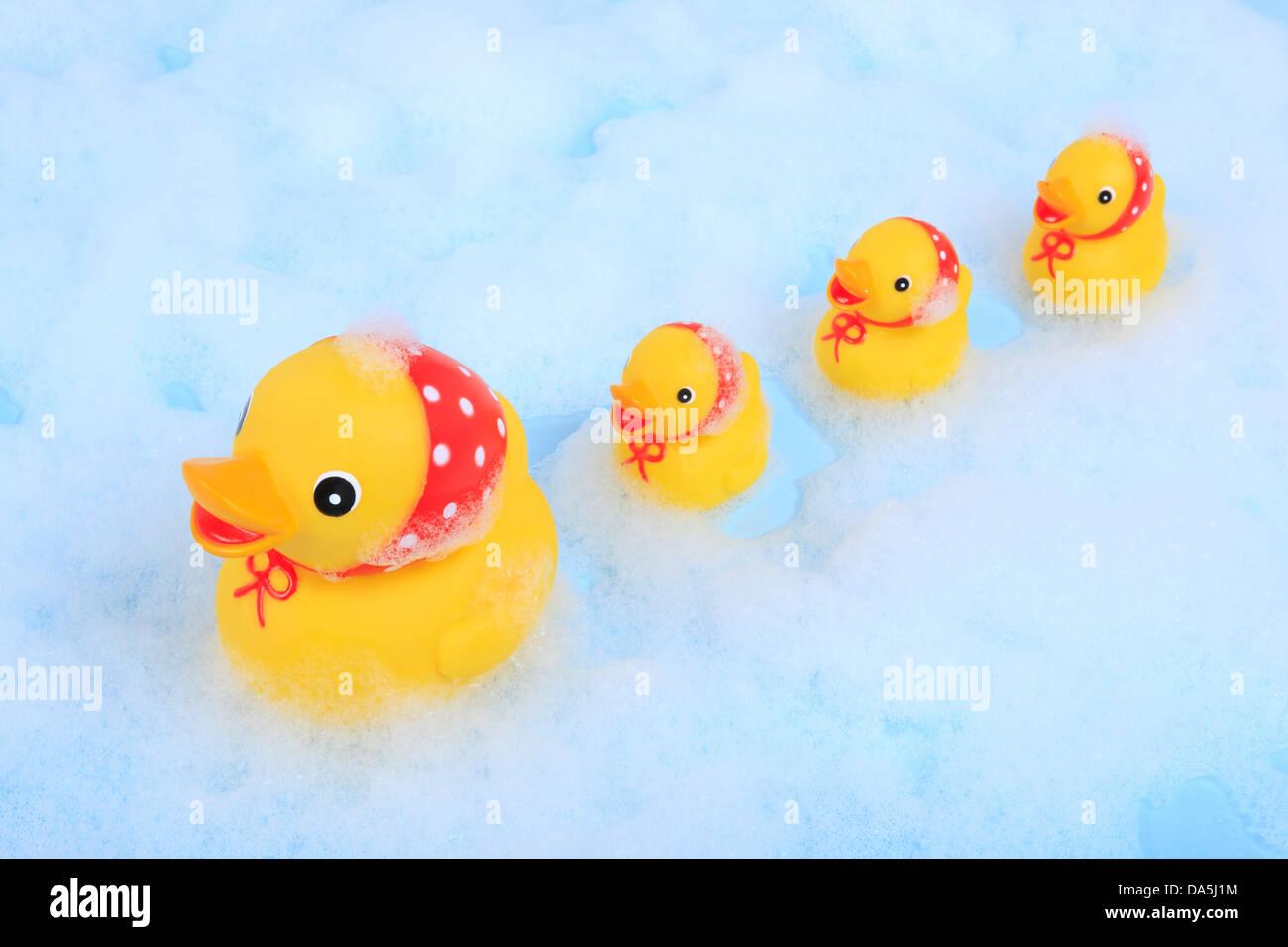 4, splashing, toys, baby, bathing, concepts, bath, duck, plastik ...