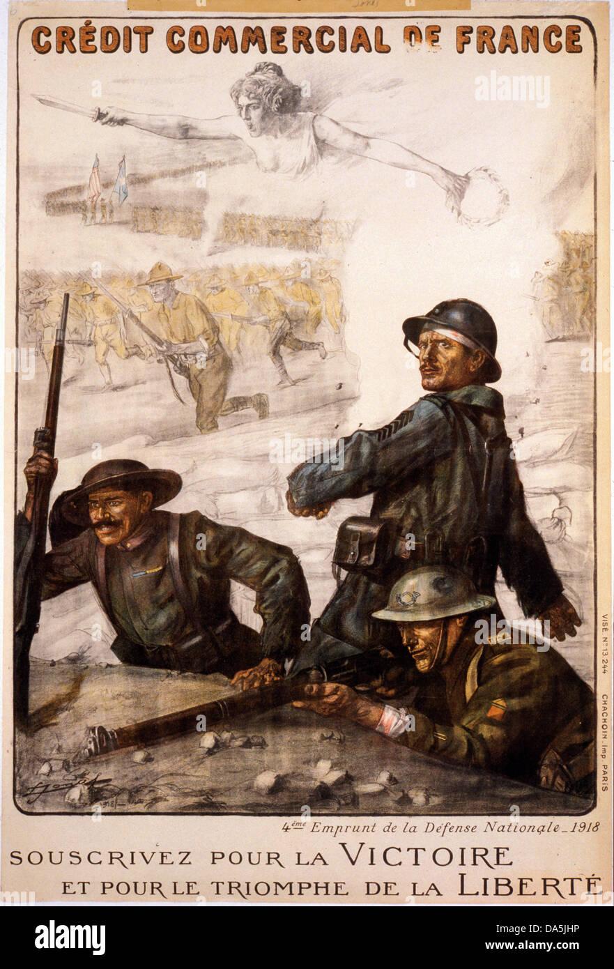 First World War, WWI, ... World War 1 French Propaganda