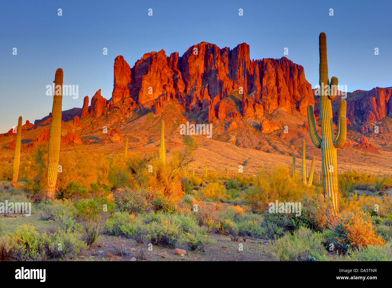 USA United States America Arizona American Southwest Stock - Mountains in the united states