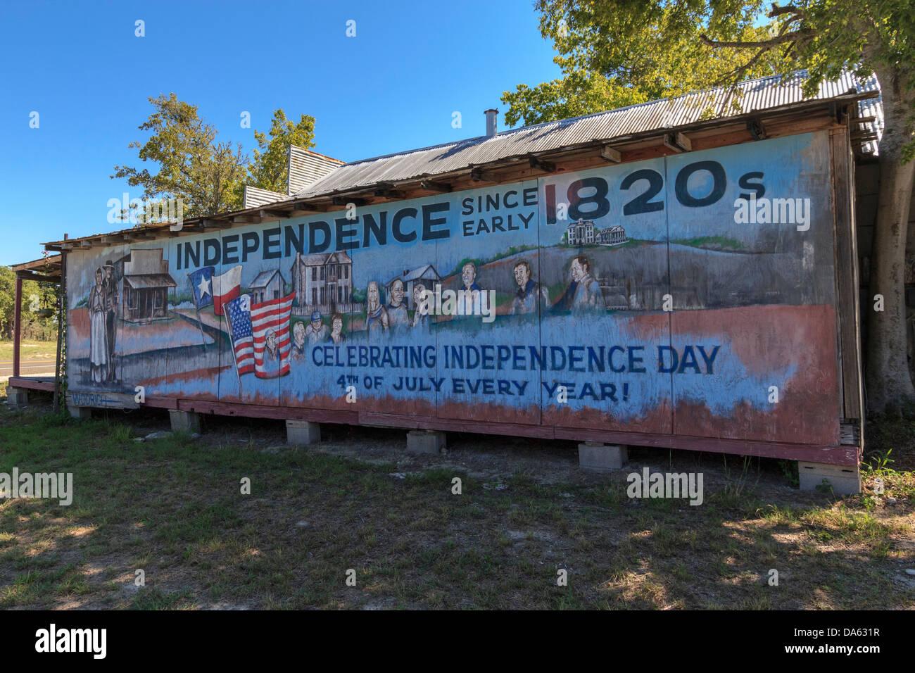 Art studio brenham independence mural oldest for Commercial mural