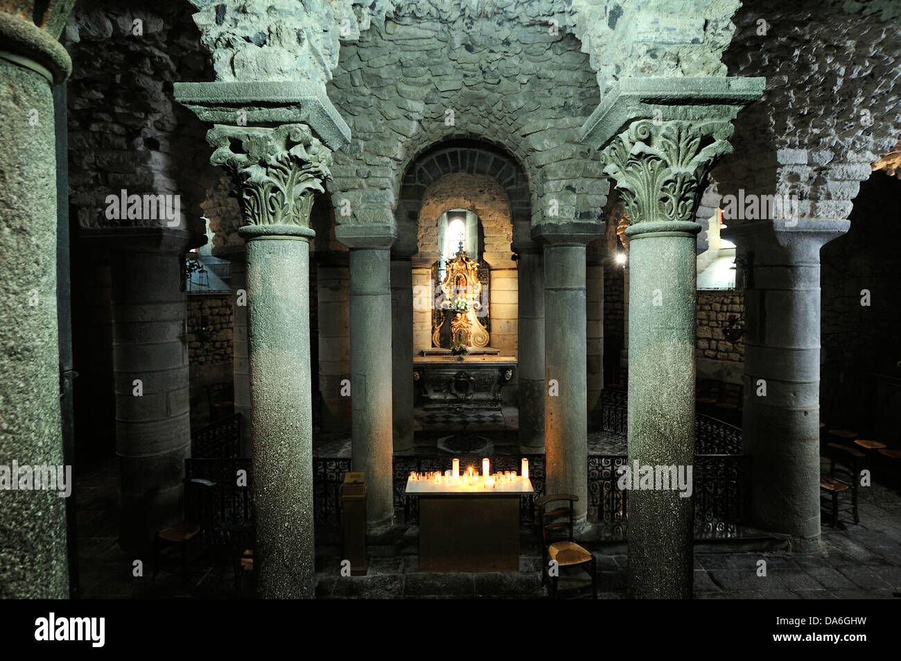 crypt of the basilica of notre dame du port stock photo royalty free image 57922421 alamy. Black Bedroom Furniture Sets. Home Design Ideas