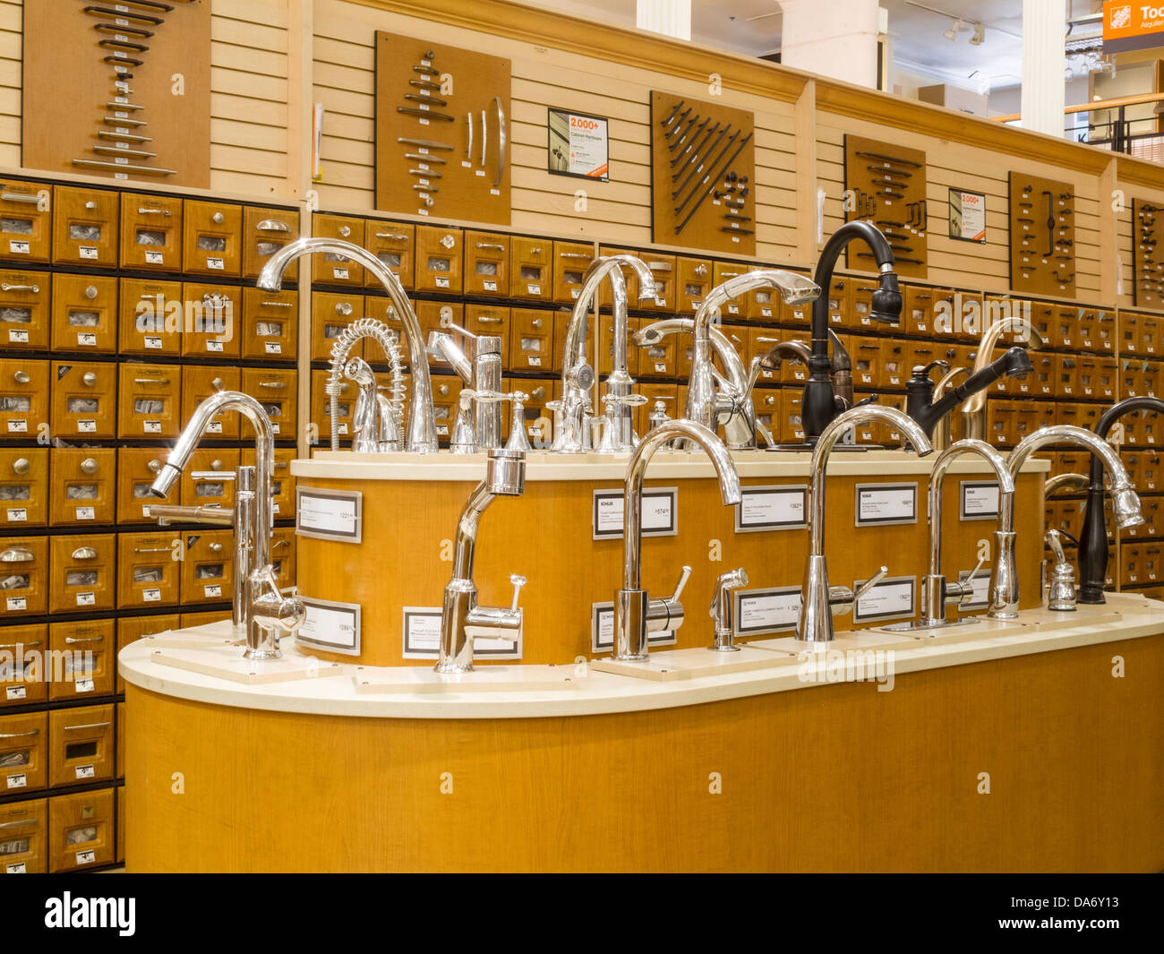 Faucet Display in Home Depot, NYC Stock Photo, Royalty Free Image ...