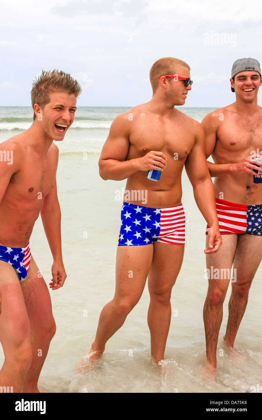 College guys wear patriotic stars and stripes swimwear on july 4th college guys wear patriotic stars and stripes swimwear on july 4th in florida urmus Choice Image