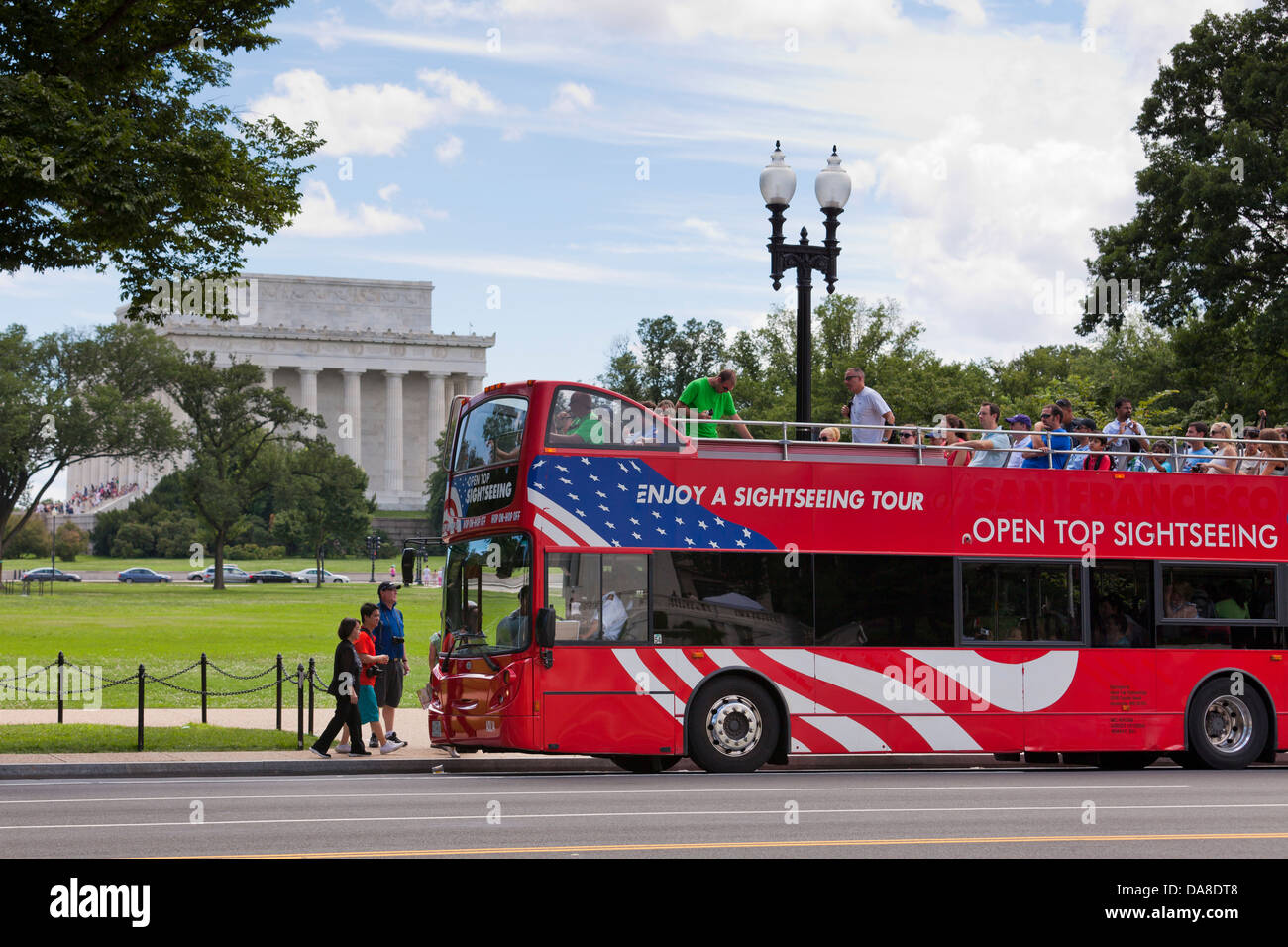Open Top Tour Bus Washington DC USA Stock Photo Royalty Free - Bus tours usa