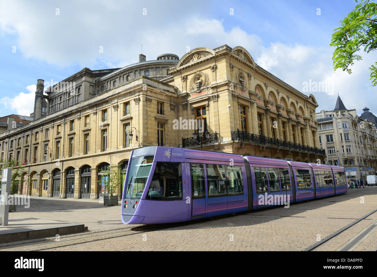 reims france tram at grand theatre de reims stock photo royalty free image 57970961 alamy. Black Bedroom Furniture Sets. Home Design Ideas