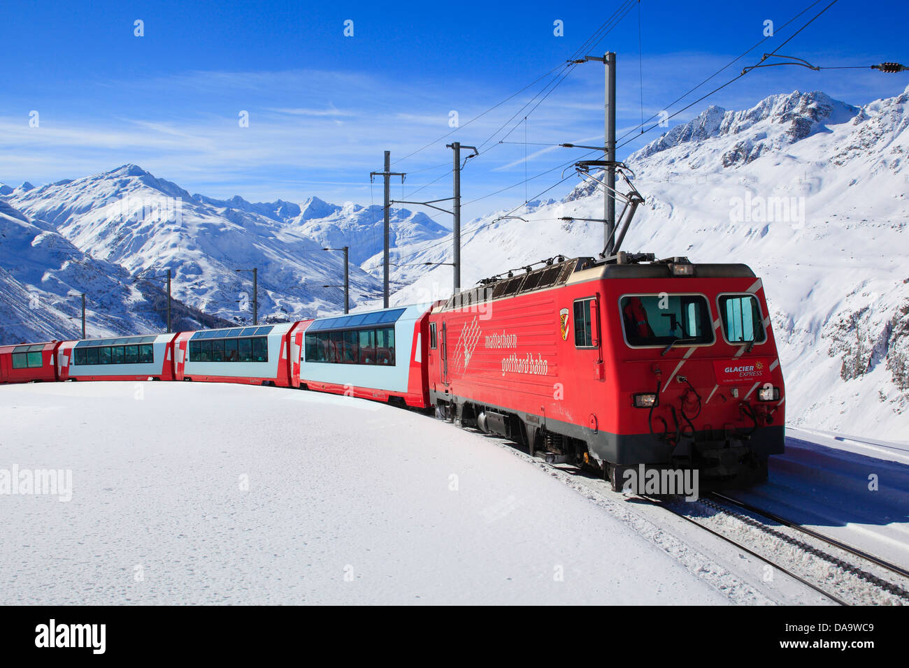alps andermatt railway mountains railroad furka oberalp glacier stock photo royalty free. Black Bedroom Furniture Sets. Home Design Ideas