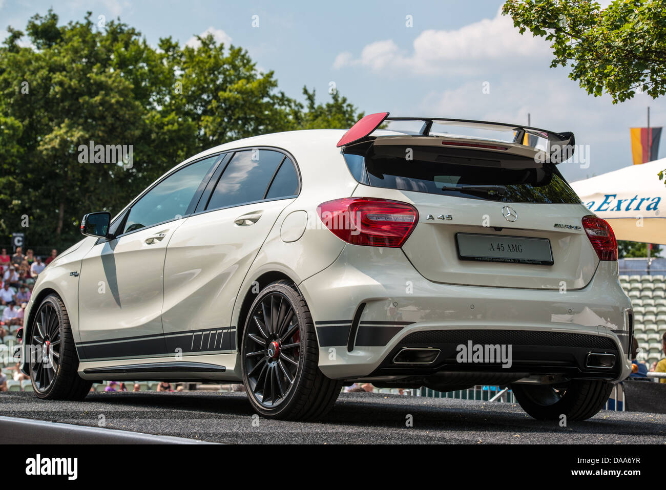 mercedes a class amg 45 as atp trophy in stuttgart germany stock photo royalty free image. Black Bedroom Furniture Sets. Home Design Ideas