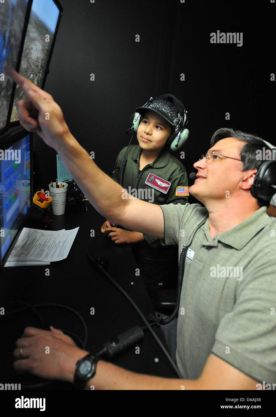 Michael Adams CAE Boom Operator Instructor shows Esmeralda Stock