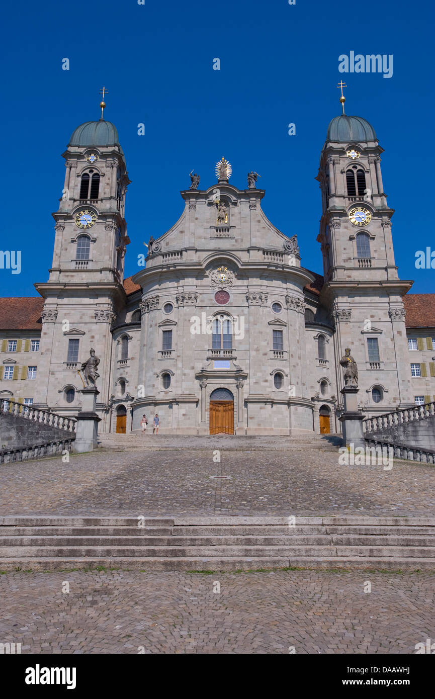 Switzerland Europe Schwyz canton Einsiedeln Benedictine Stock