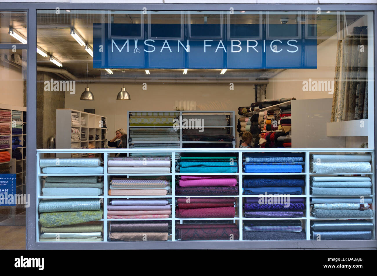 misan fabrics fabric shop in berwick street soho london uk stock photo 58027491 alamy. Black Bedroom Furniture Sets. Home Design Ideas