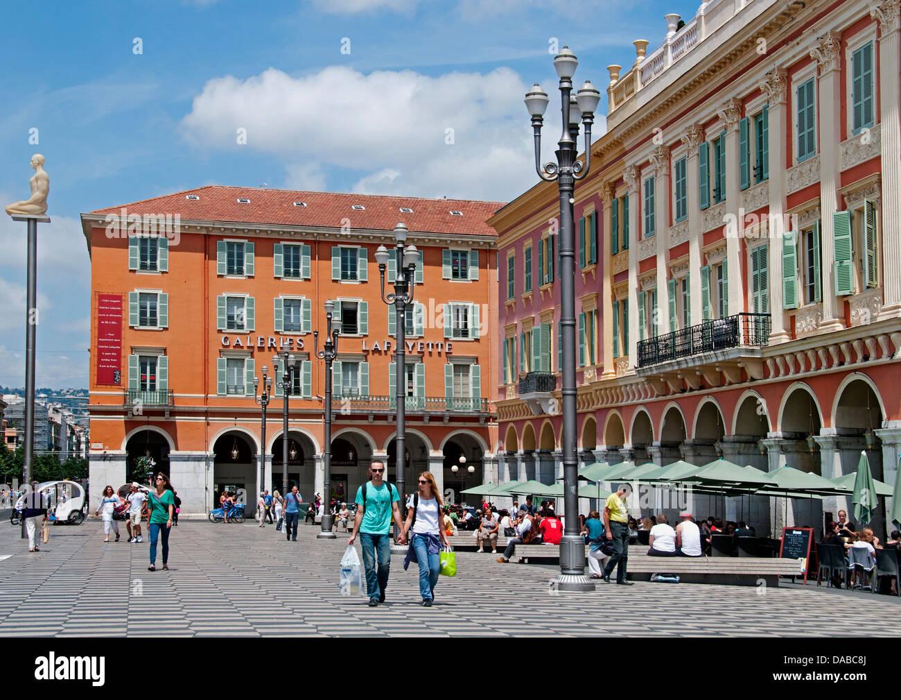 Galeries lafayette nice place massena french riviera cote d 39 azur stock photo royalty free image - Place massena nice ...