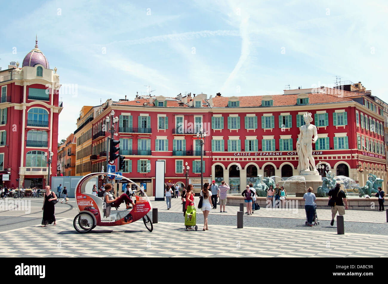 Fontaine du soleil fountain of the sun nice place massena french stock photo royalty free - Place massena nice ...