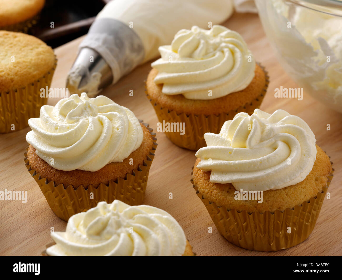 Stevia Vanilla Cupcakes With Cream Cheese Frosting Stock Photo ...