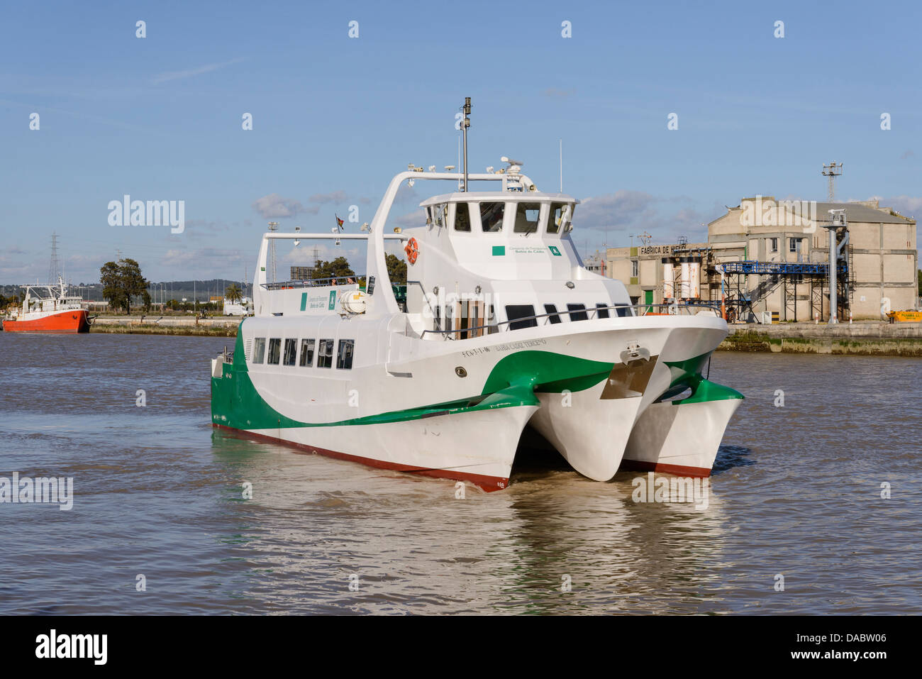 Bahia de cadiz ferry boat leaving el puerto de santa maria for cadiz stock photo royalty free - Idental puerto santa maria ...