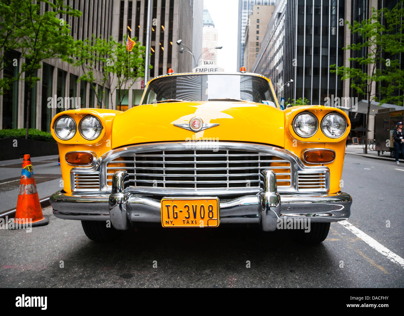 vintage yellow new york taxi nyc usa stock photo royalty free image 58053351 alamy. Black Bedroom Furniture Sets. Home Design Ideas