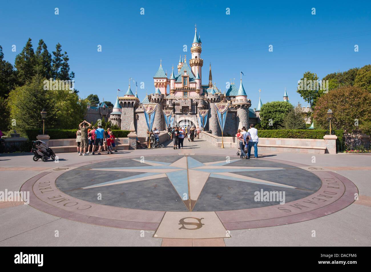 Compass At Magic Kingdom Castle Disneyland Anaheim