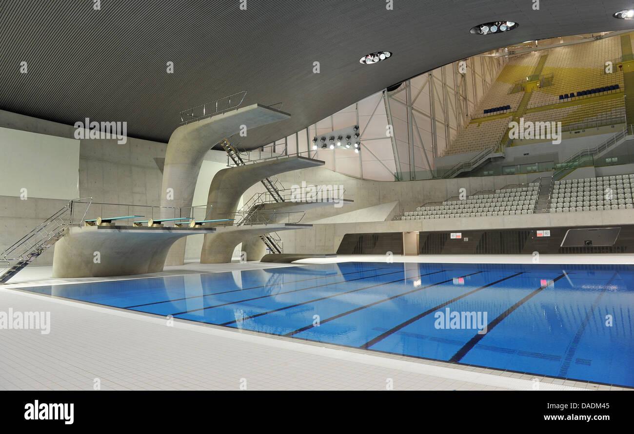 The swimming stadium aquatics centre designed by for Piscine olympique