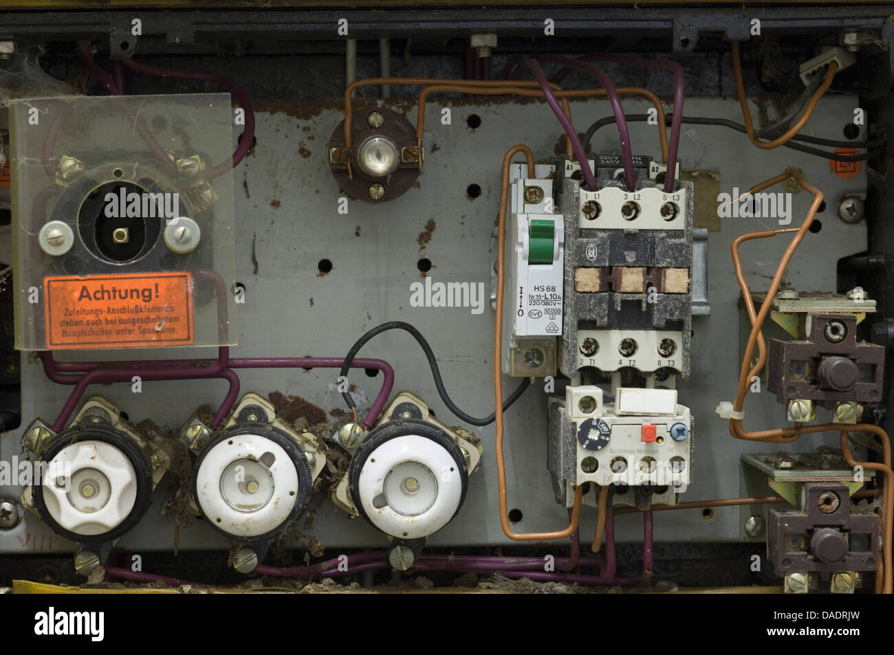 germany antique old ruined fuse box stock photo royalty free image rh alamy com Old Electrical Fuse Panels antique fuse boxes for sale