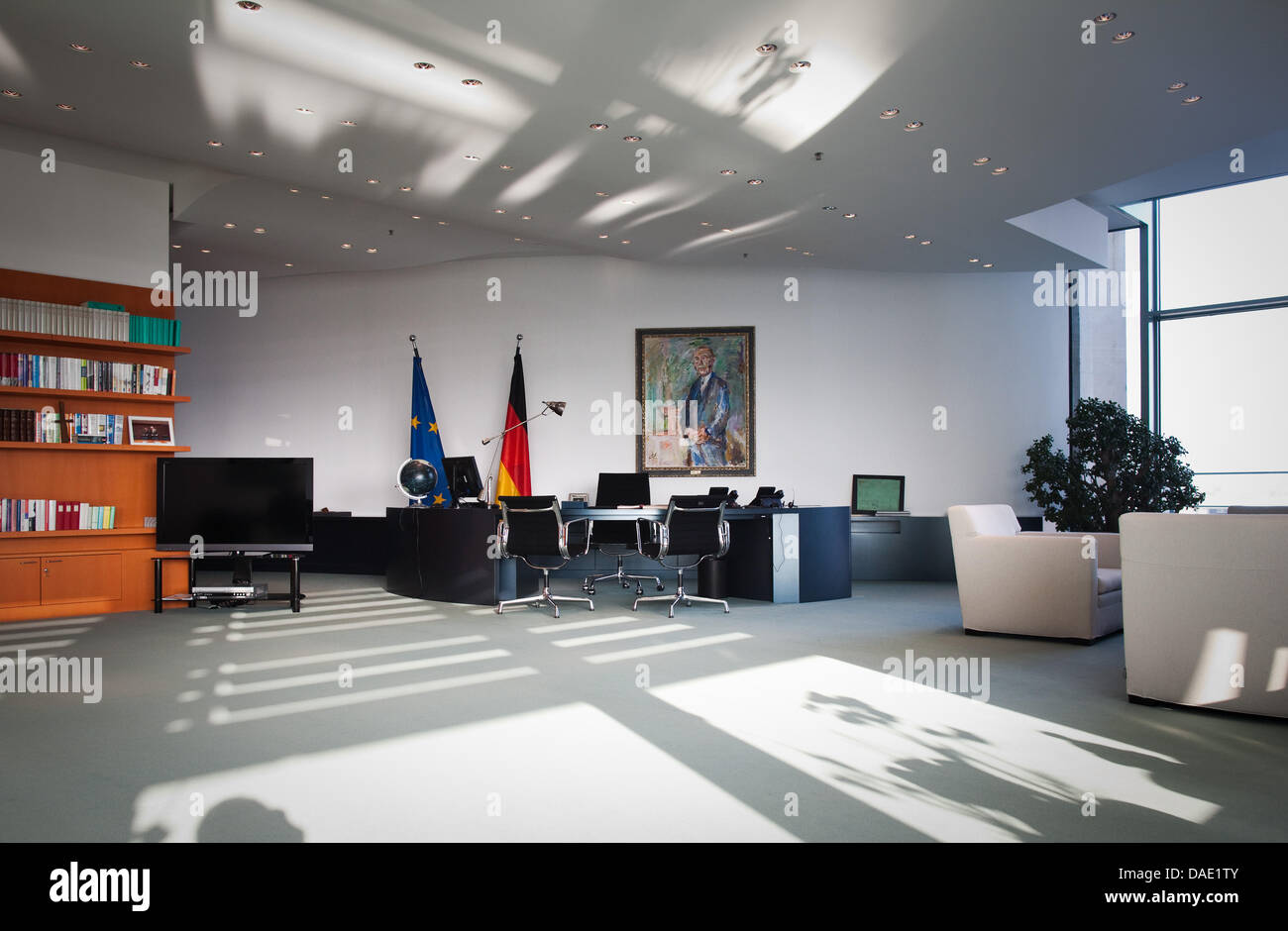 The Office Of German Chancellor Merkel Is Located Inside The Stock