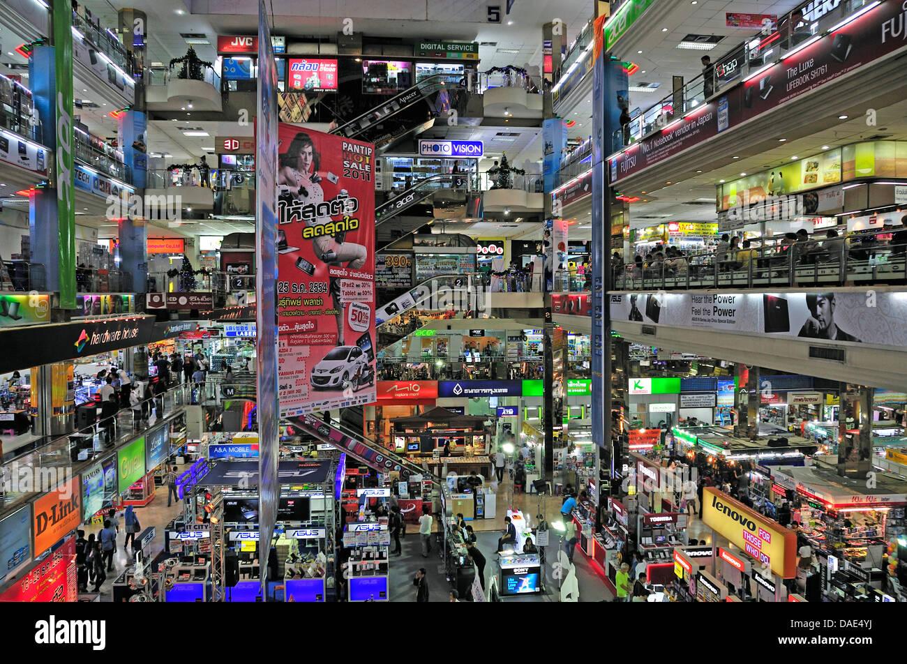 Computer Store Pantip Plaza Thailand Bangkok Stock Photo