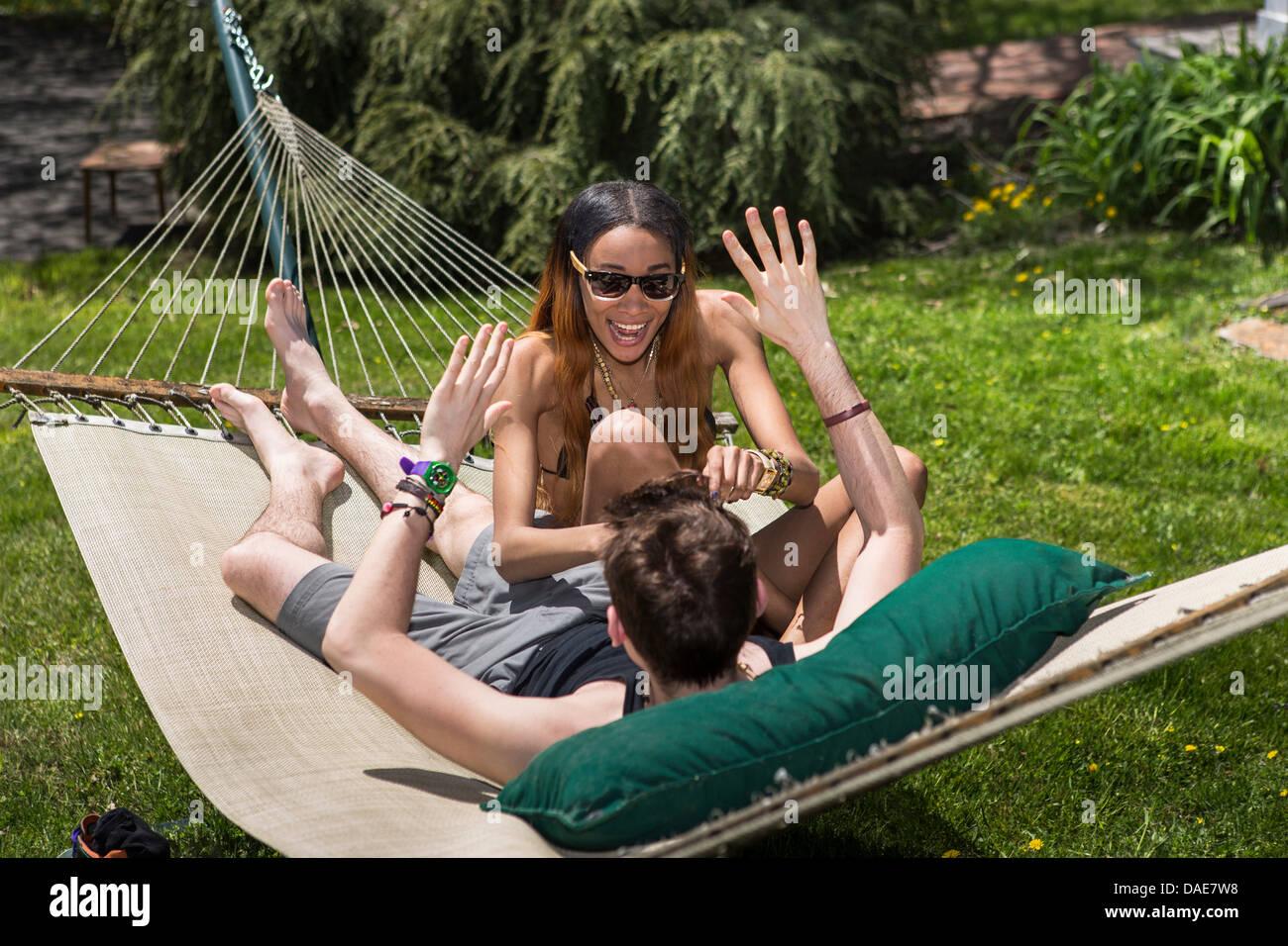 women tickling men