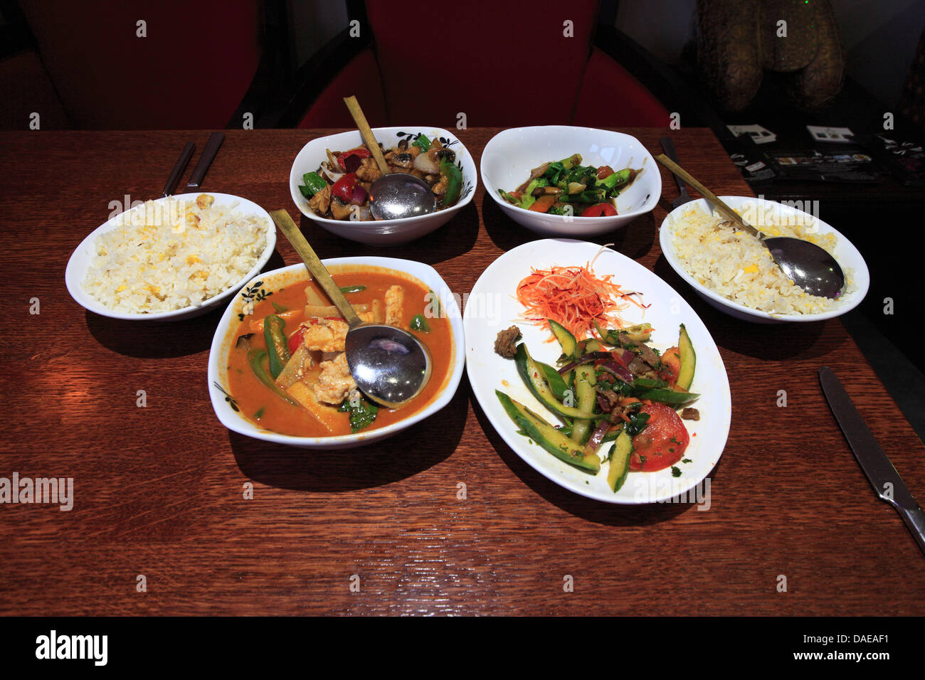 Thai food bowls set menu rice dishes studio setting for 8 spices thai cuisine menu