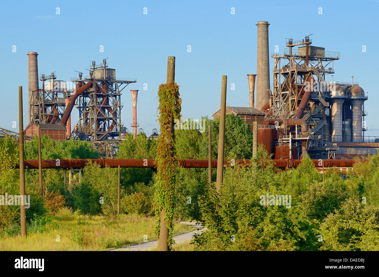 abandoned iron and steel works duisburg meiderich germany north stock photo royalty free. Black Bedroom Furniture Sets. Home Design Ideas