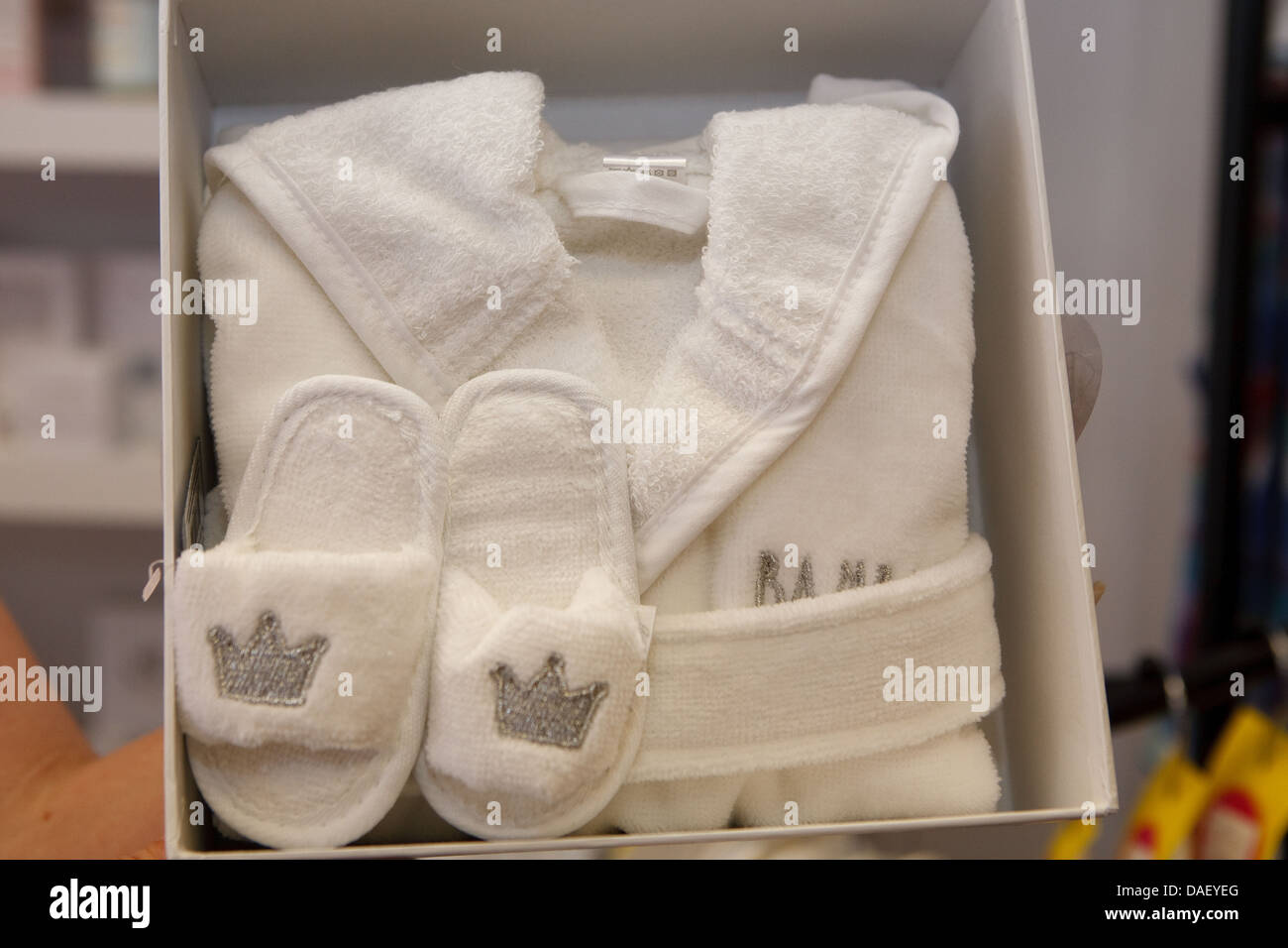 Royal Baby keepsakes, a dressing gown and slippers set complete ...