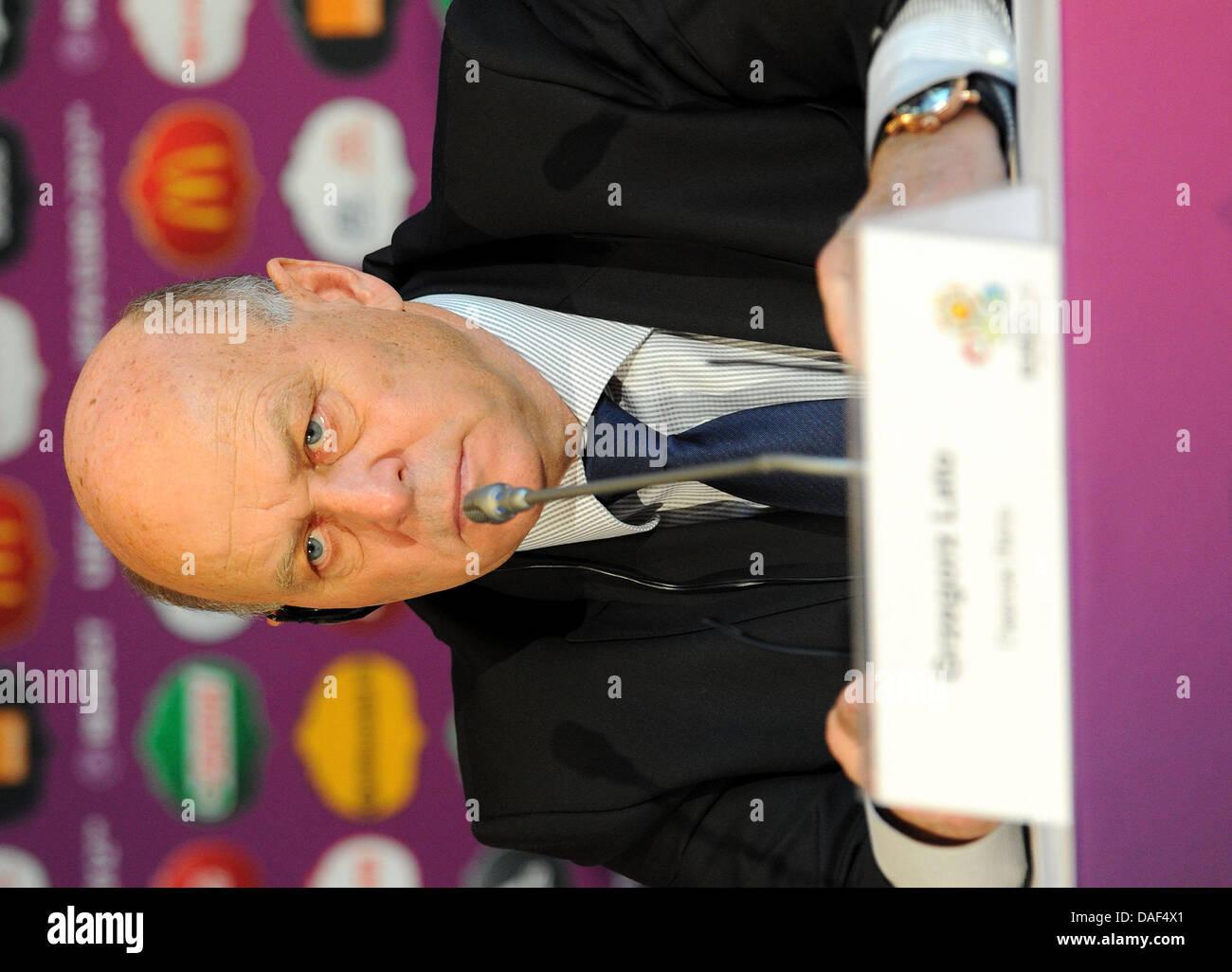 Grzegorz Lato president of the Polish Football Association looks
