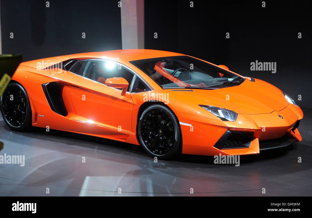 The New Car Prototype Lamborghini  Aventador Is Presented On The Eve DAFJKM