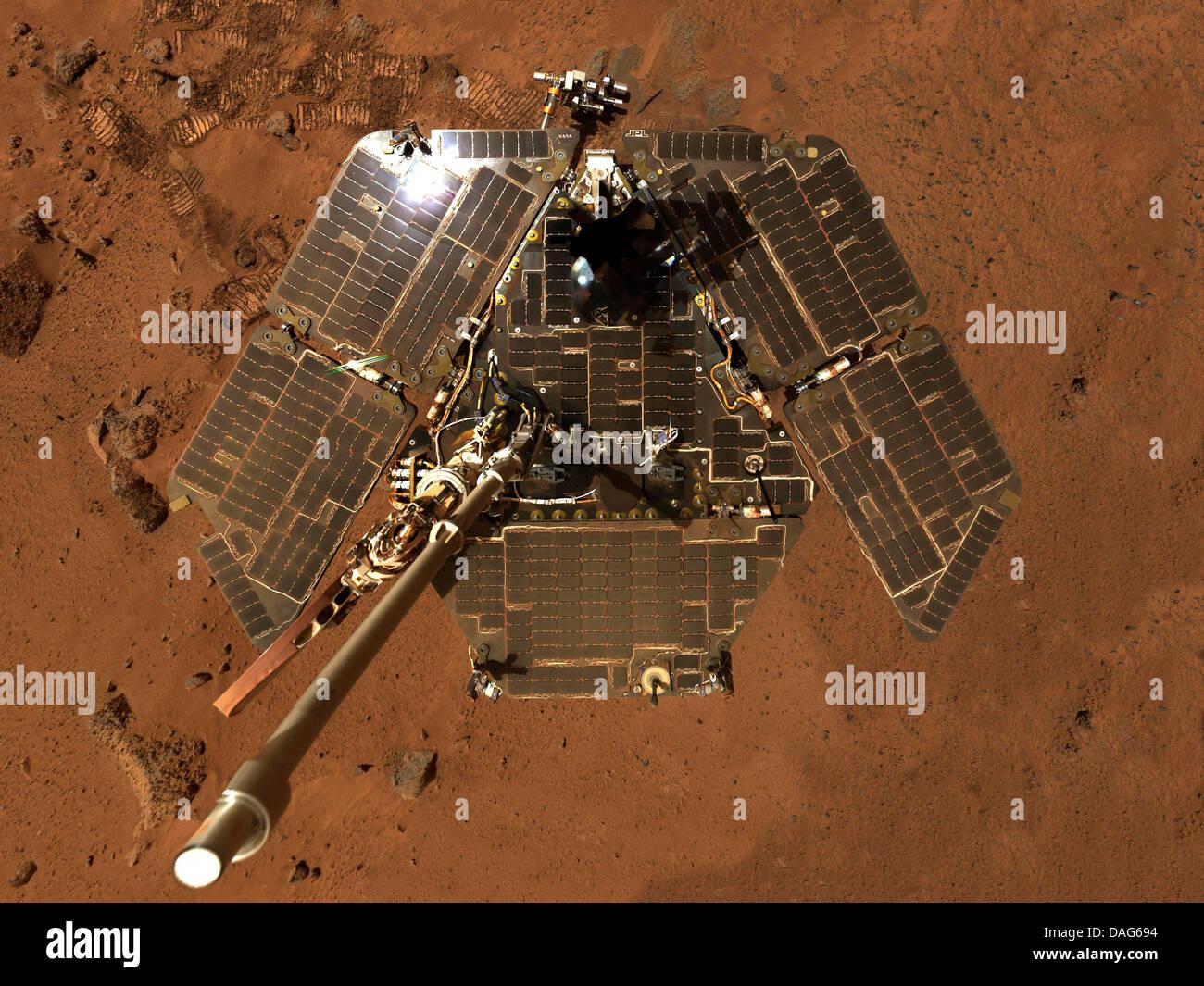 Spirit mer a mars exploration rover a a robotic rover on