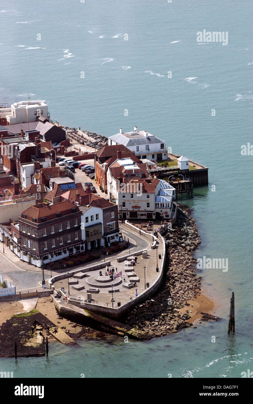 an aerial view of spice island portsmouth harbour old. Black Bedroom Furniture Sets. Home Design Ideas