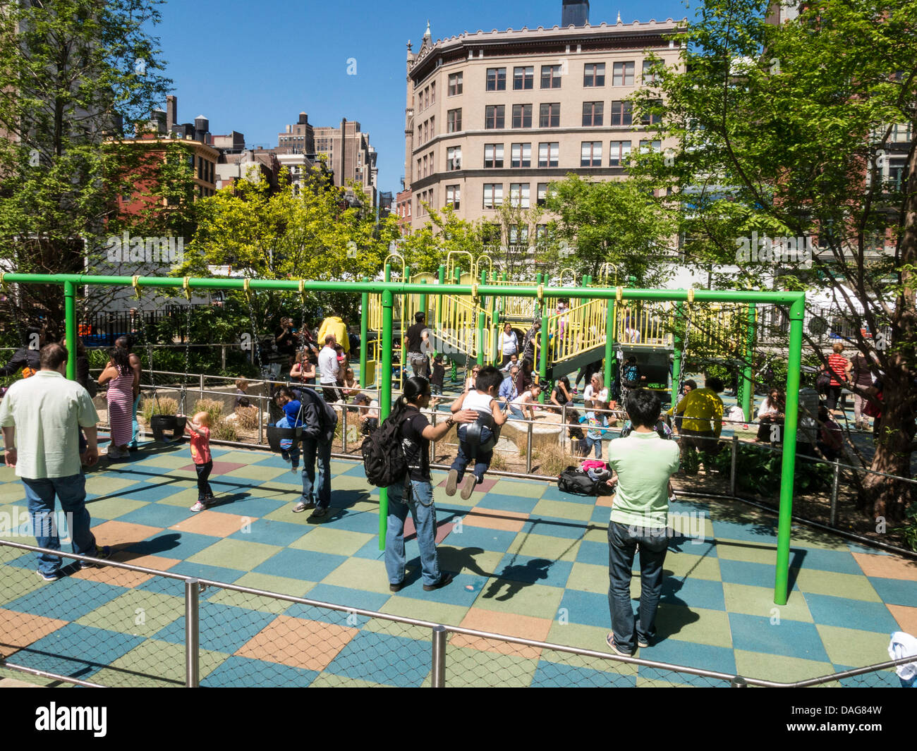 Childrens playground union square park nyc stock photo royalty childrens playground union square park nyc sciox Image collections