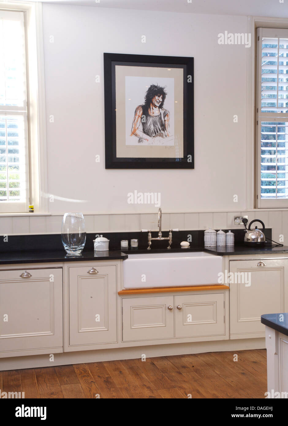 White Kitchen Units Black Worktop black worktops stock photos & black worktops stock images - alamy